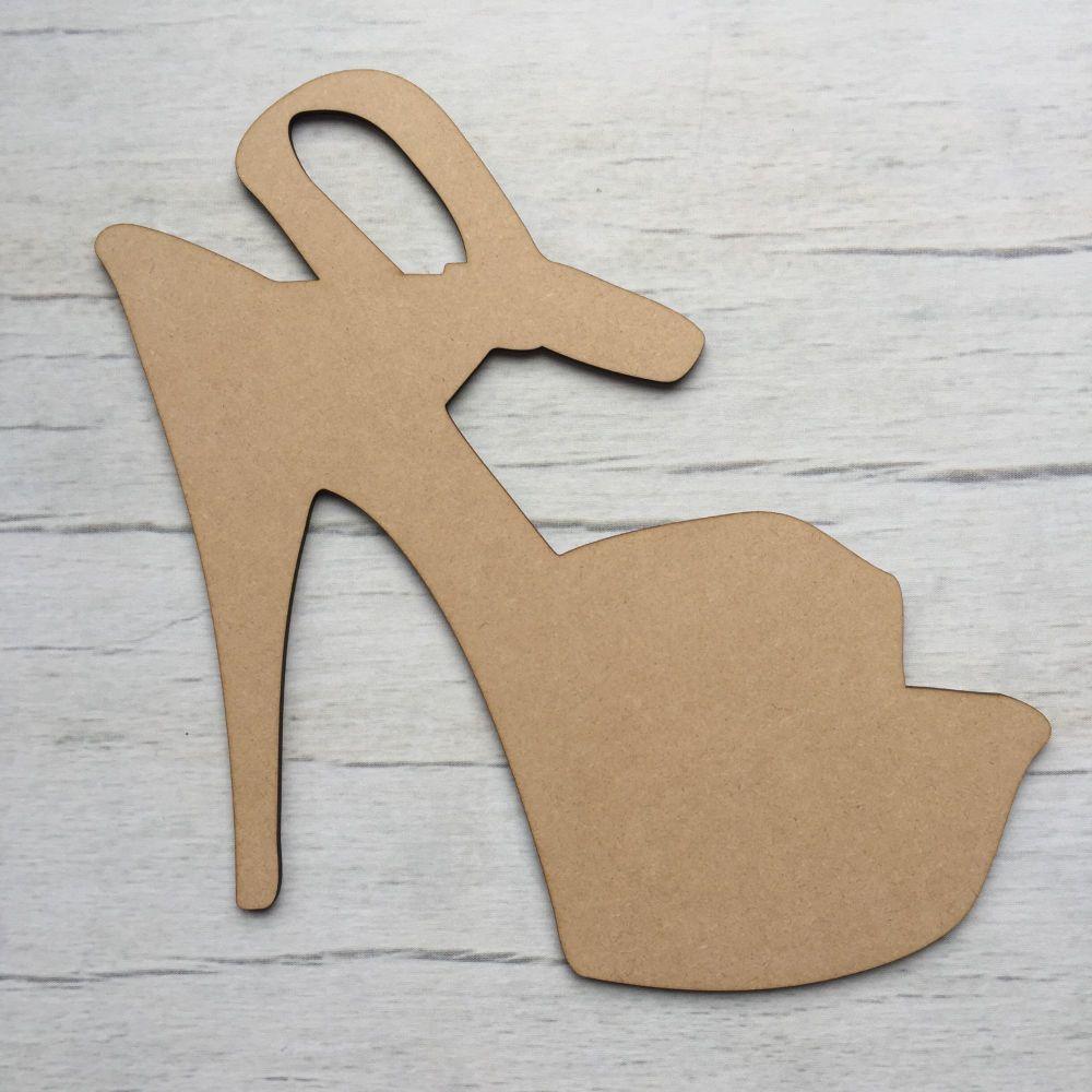 Wooden High Heel Shoe shape