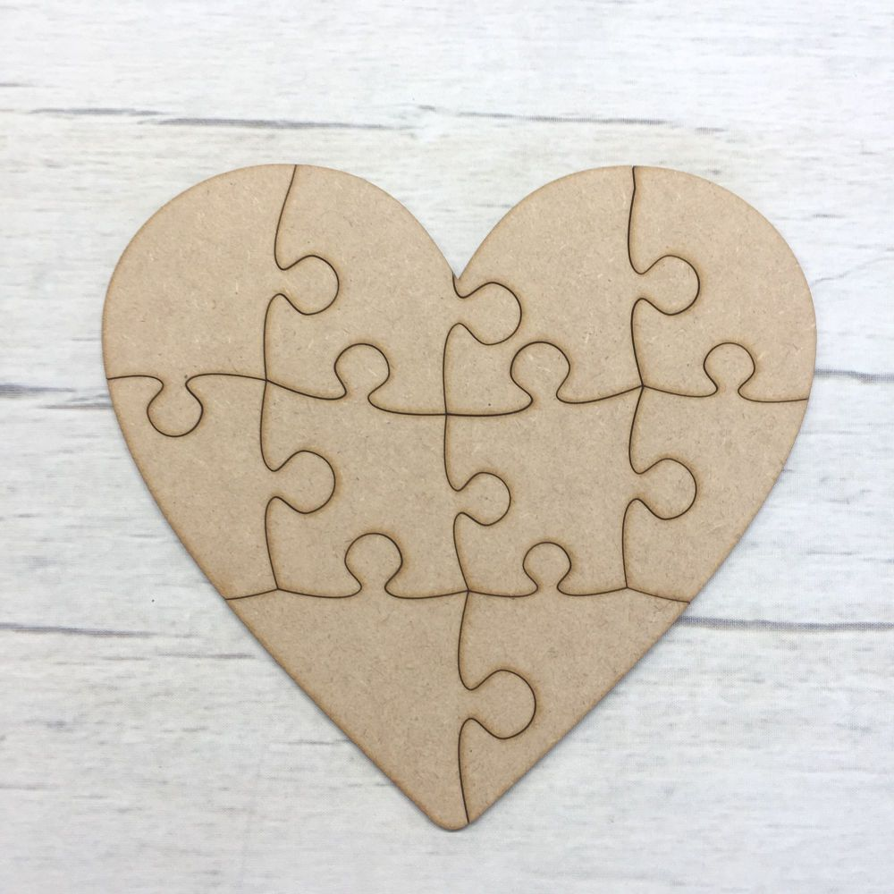 Heart shaped jigsaw - 10 piece