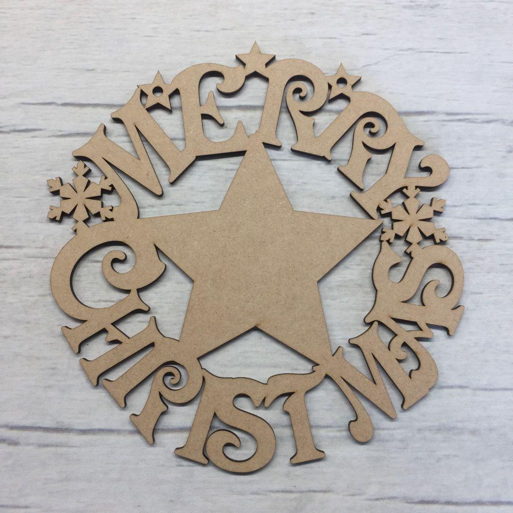 Christmas wreath plaque