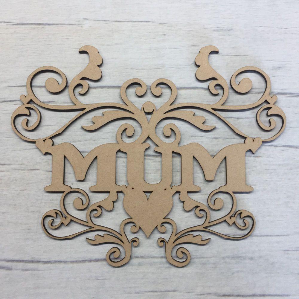 Wooden Mum scroll hanging plaque