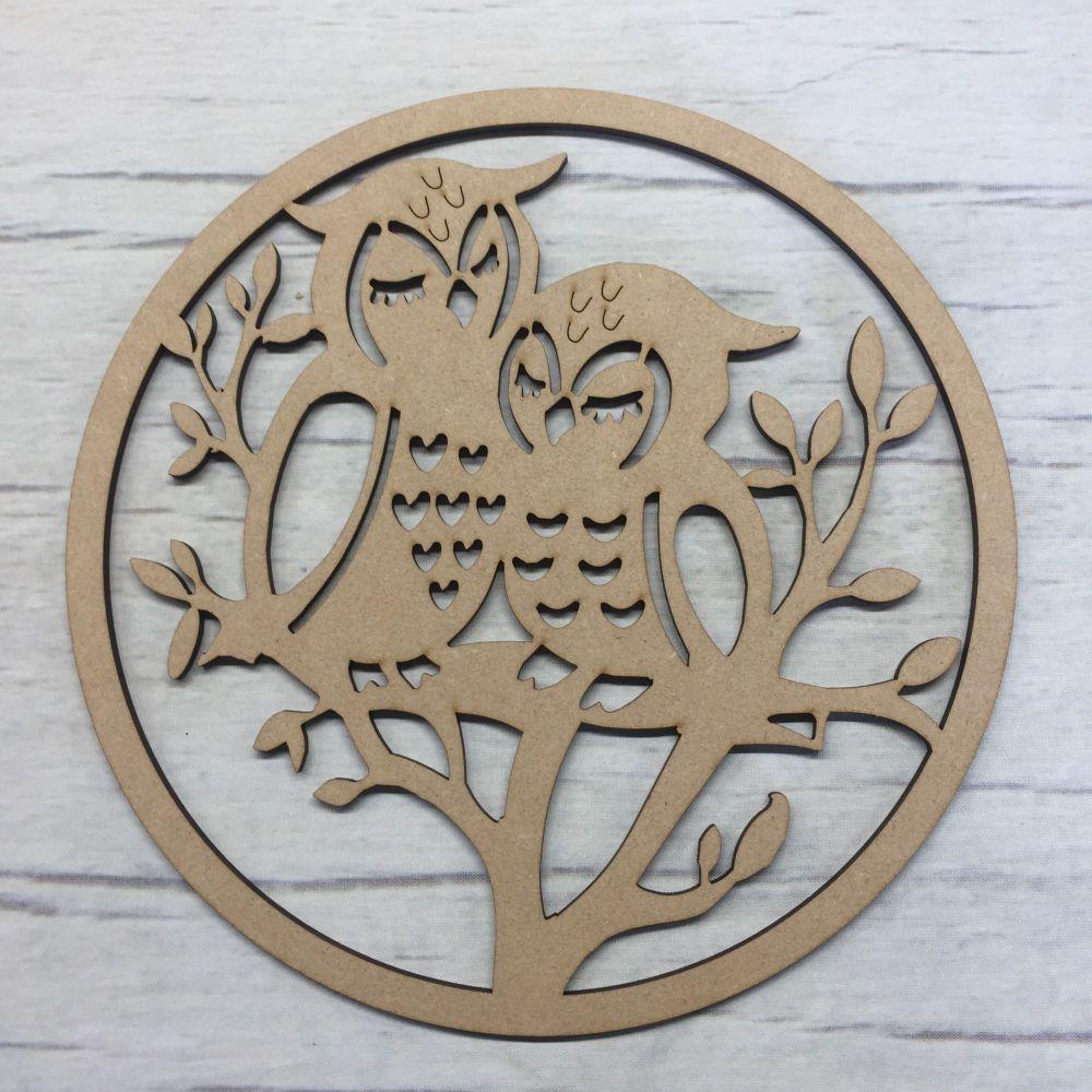Box topper - keepsake memory box - Two Owls