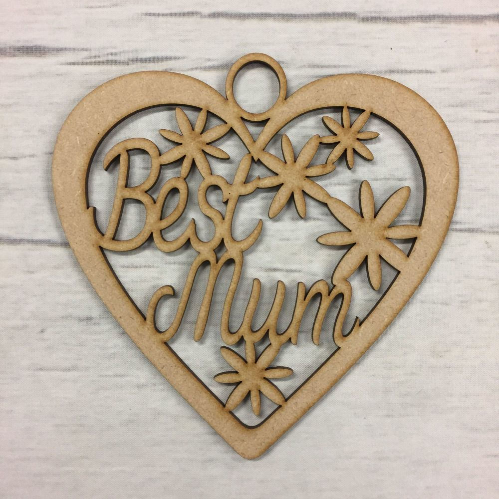Hanging heart - 'Best mum'