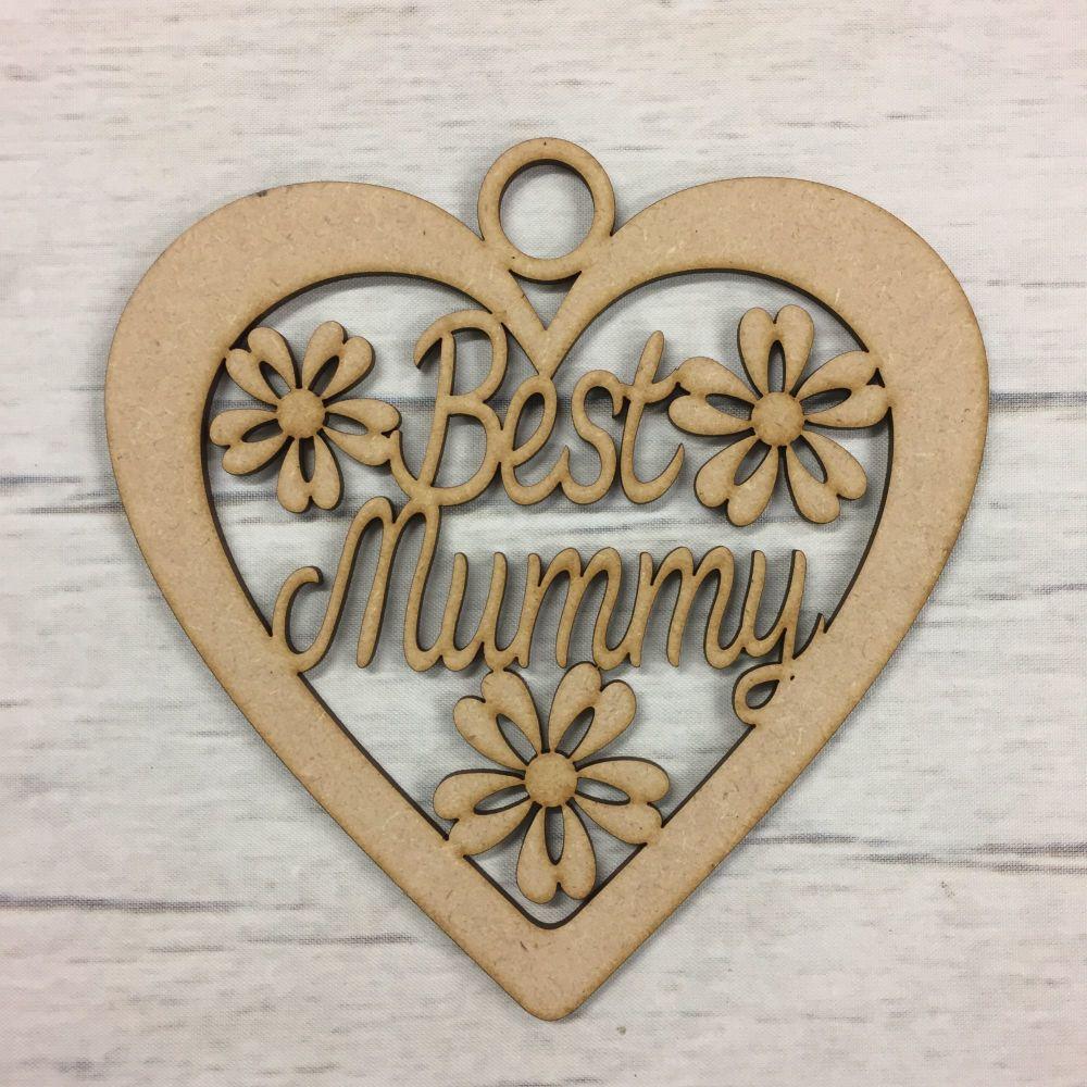 Hanging heart - 'Best mummy'