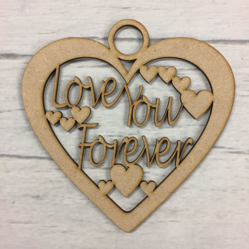 Wooden MDF Mothers day valentine gift heart craft