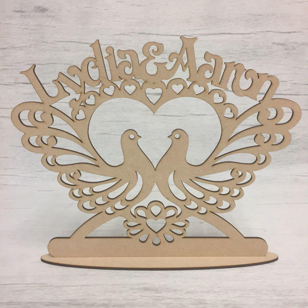 Lovebirds table decoration - customised