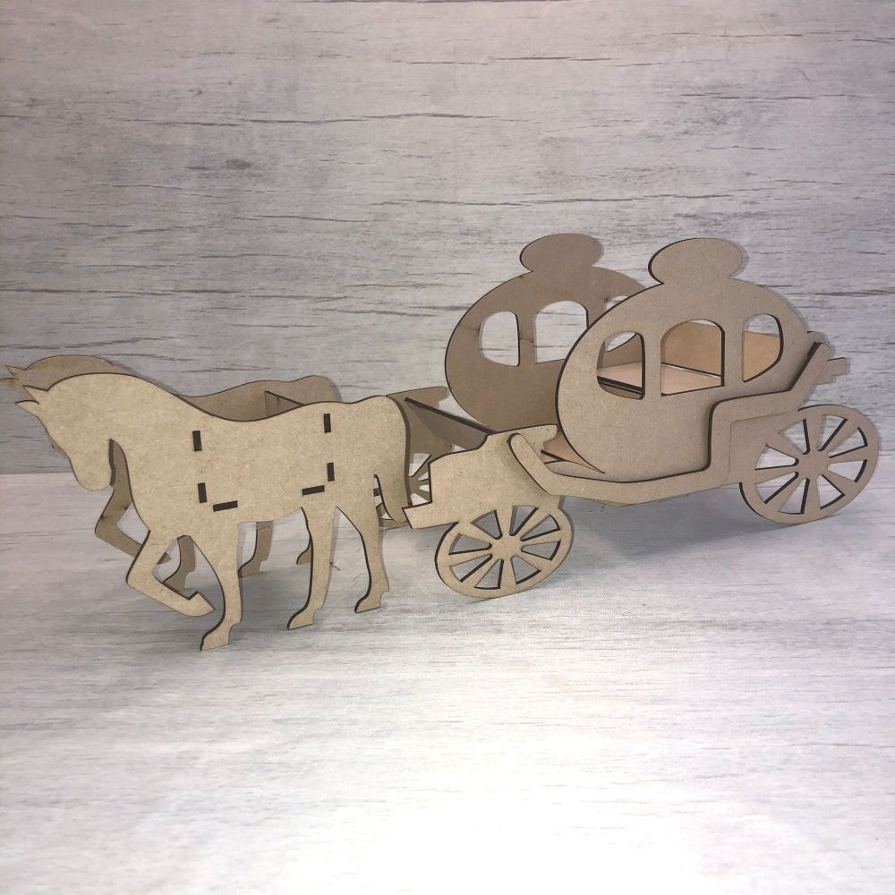 Wedding table decoration horse and Carriage kit