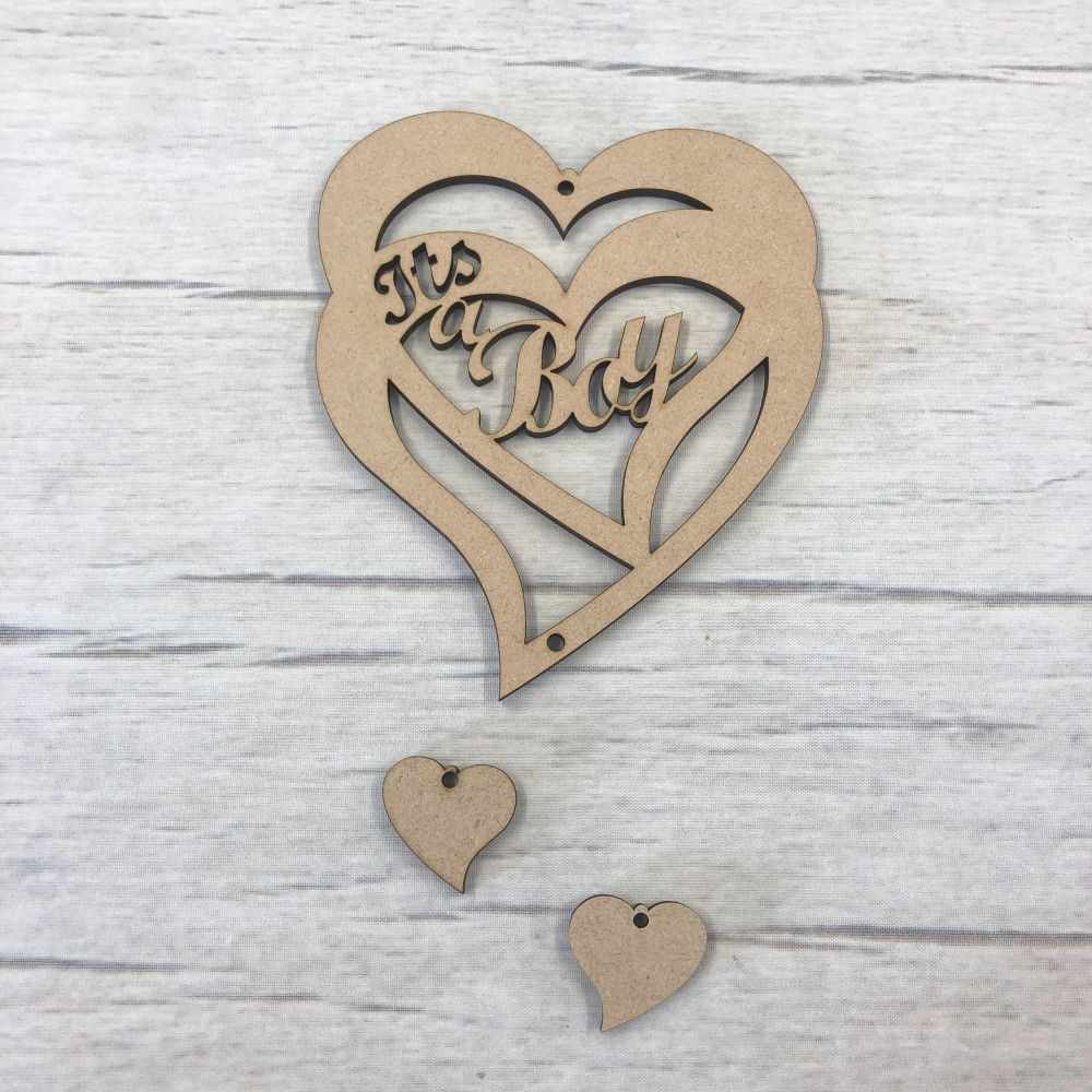 Hanging heart - 'It's a boy'