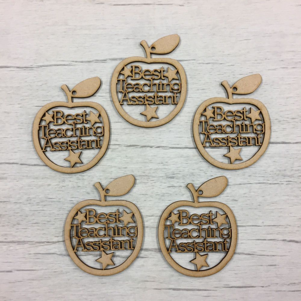 Best Teaching Assistant apple hangers set of 5