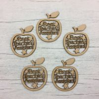 Best Teaching Assistant' apple hangers - set of 5