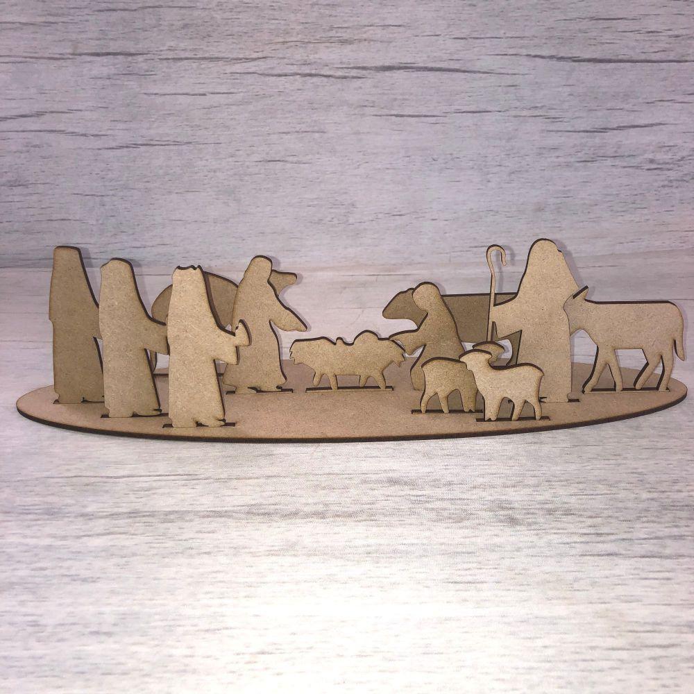 Christmas Nativity scene - freestanding scene 4