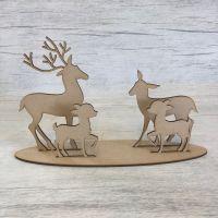 Christmas reindeer - freestanding family