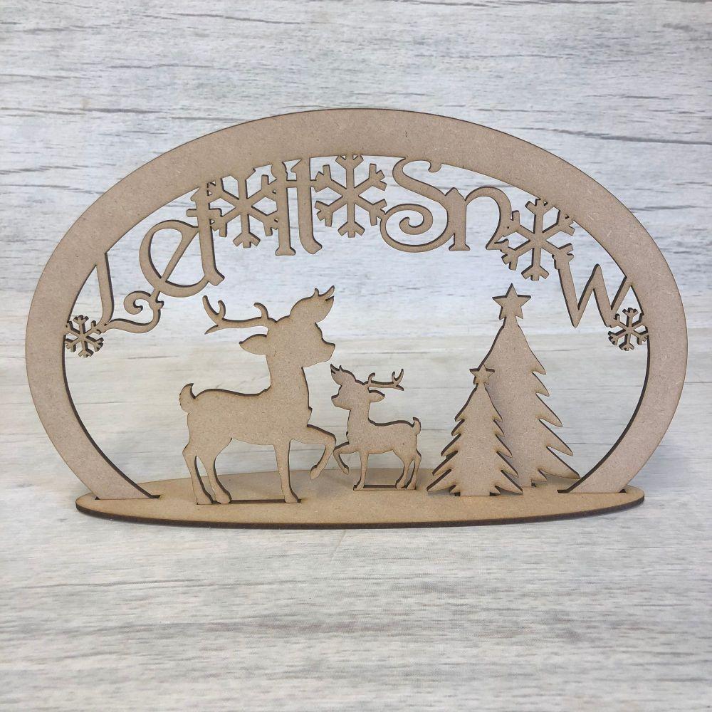 Christmas reindeer scene 1 - freestanding