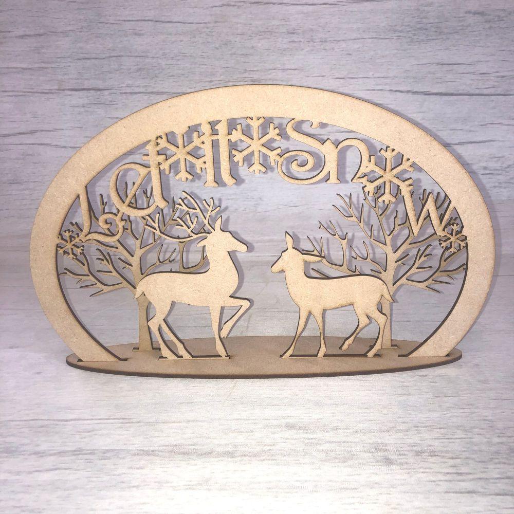 Christmas reindeer scene 2 - freestanding