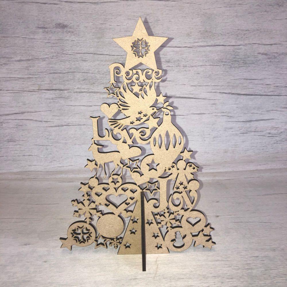 Christmas Tree 'Peace, Love, Joy' - freestanding