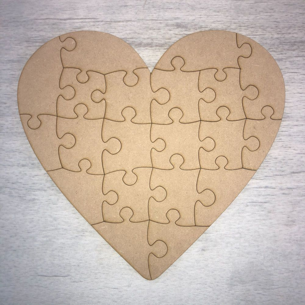 Heart shaped jigsaw - 20 piece