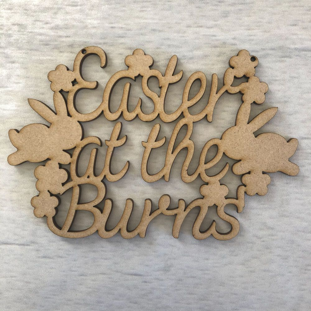 'Customised name'  Easter wall plaque