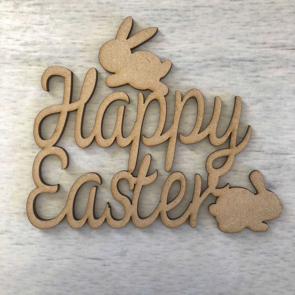 'Happy Easter' wall plaque
