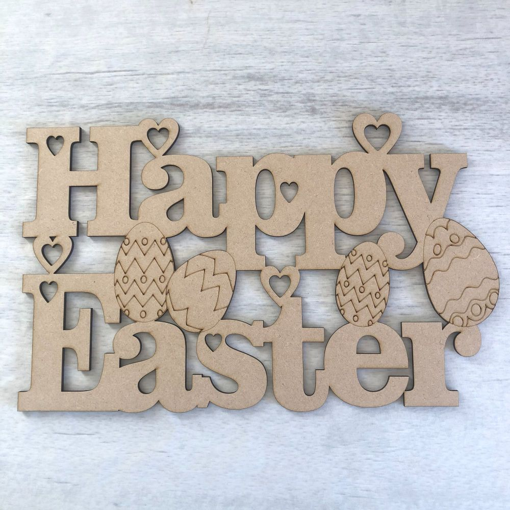 'Happy Easter' large plaque
