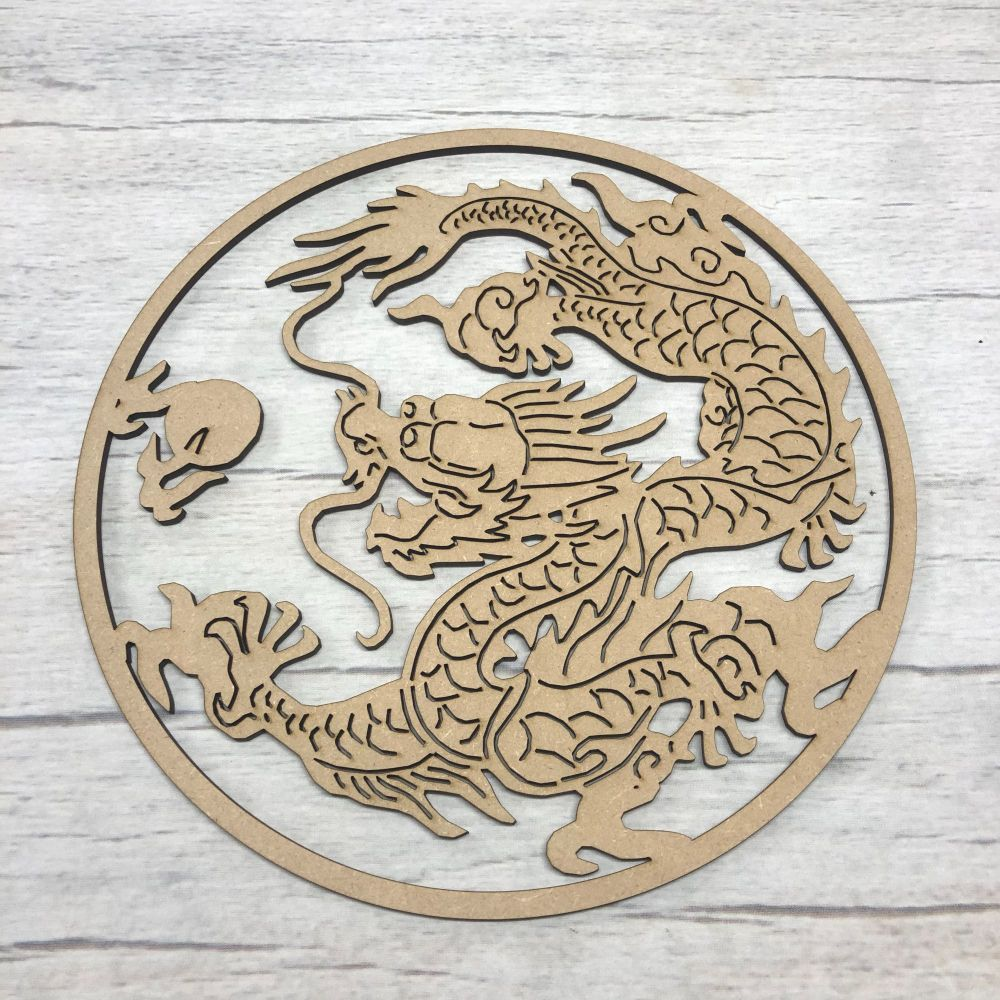 Chinese Dragon art - hanging plaque