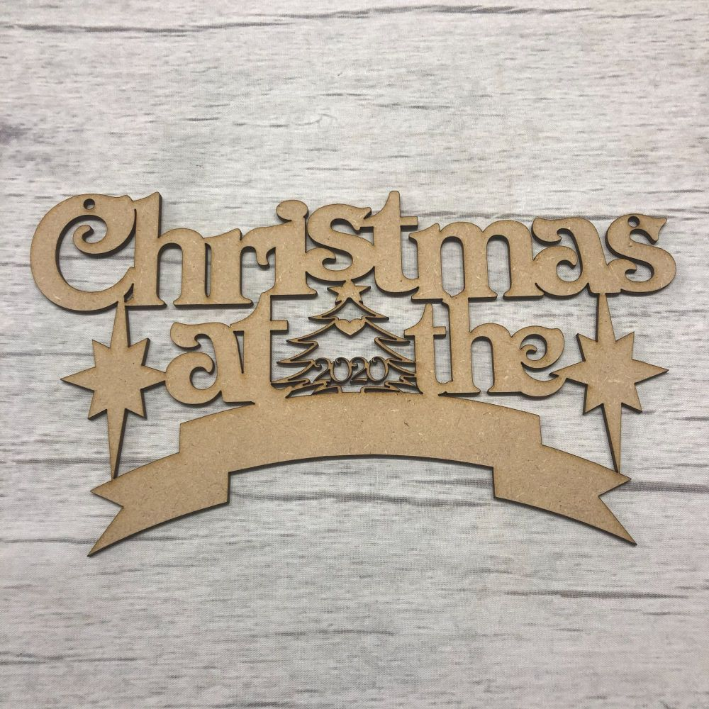 'Christmas at the..' hanging plaque blank for customisation