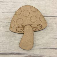 Mushroom - engraved
