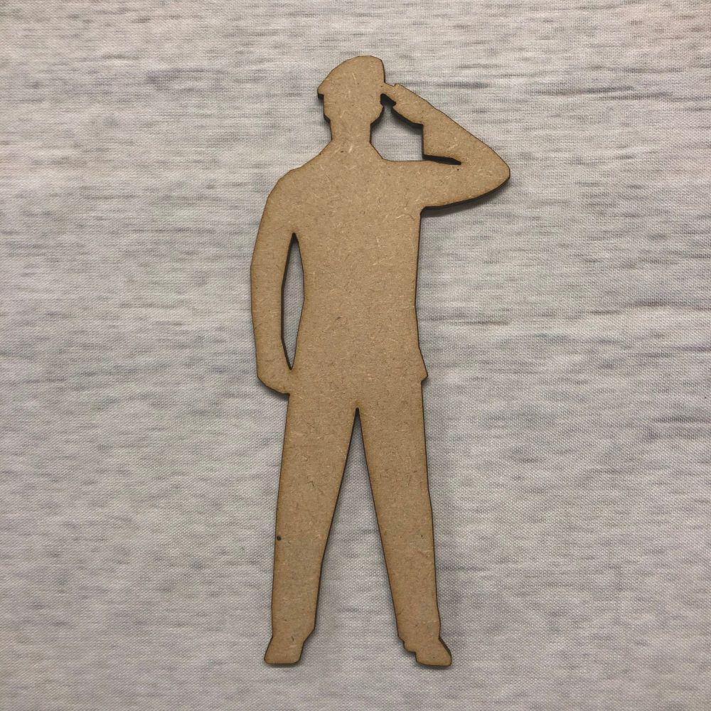Soldier 1 - saluting