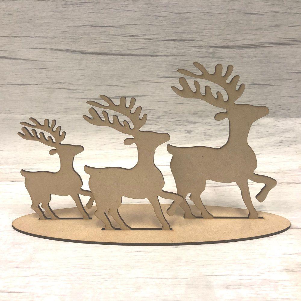 Christmas reindeer - freestanding set of three