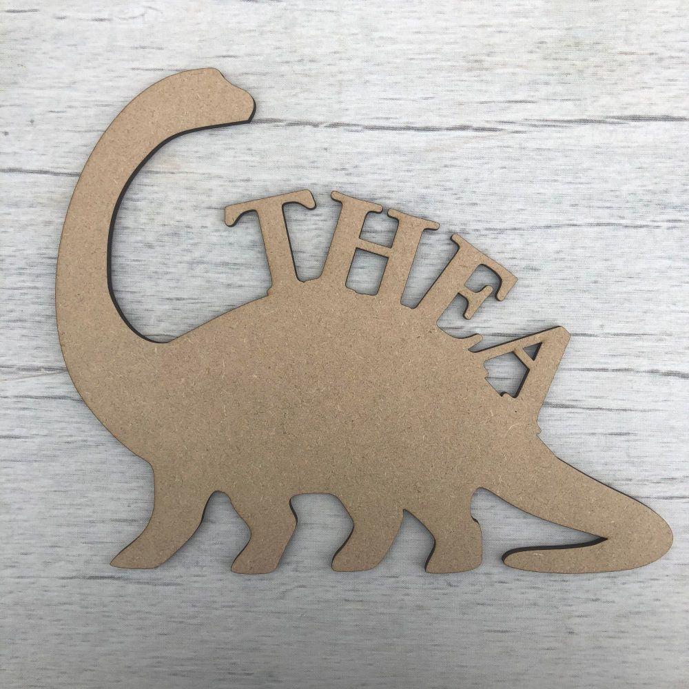 Door plaque - Dinosaur Name Plaque 2 - Customised