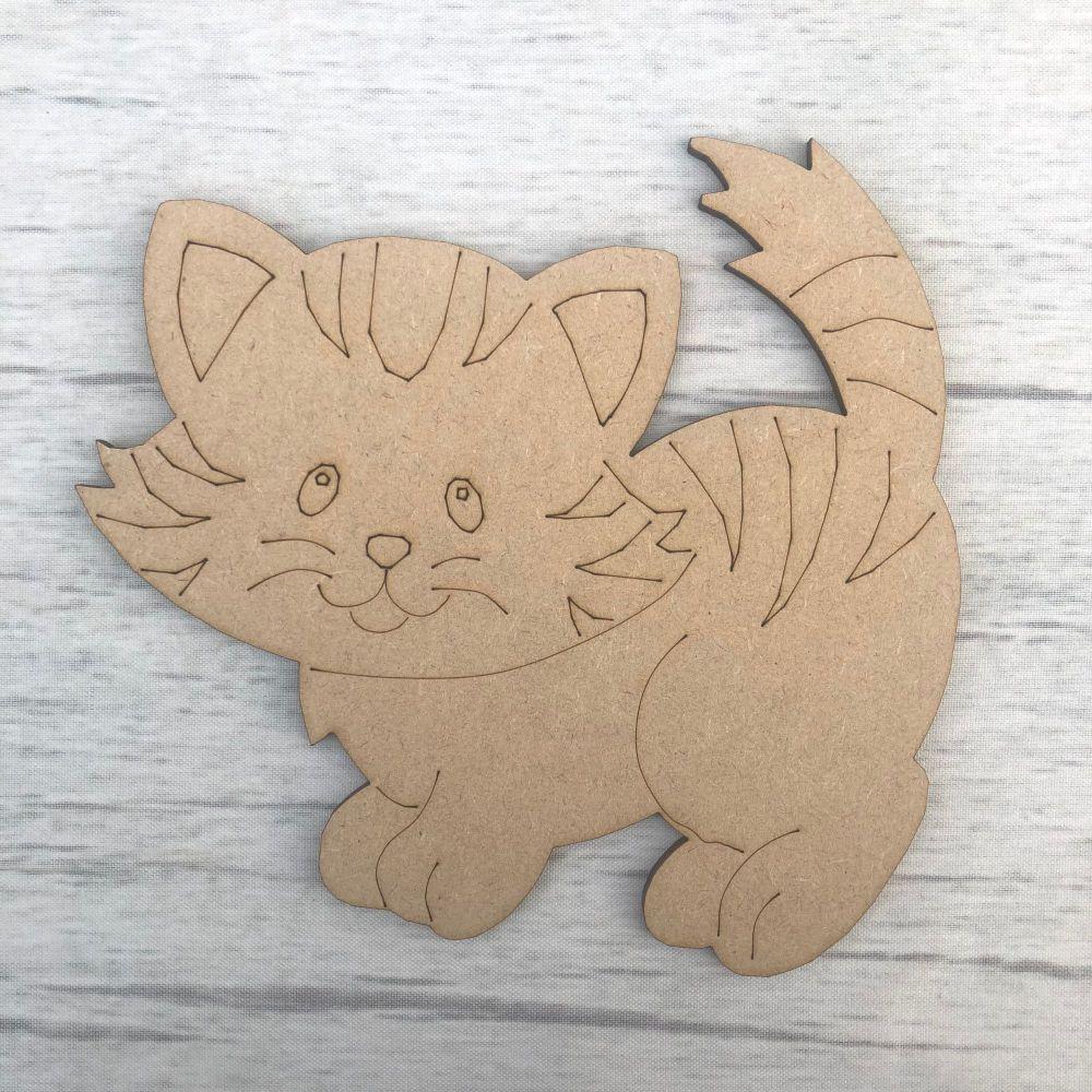 Kitten - engraved