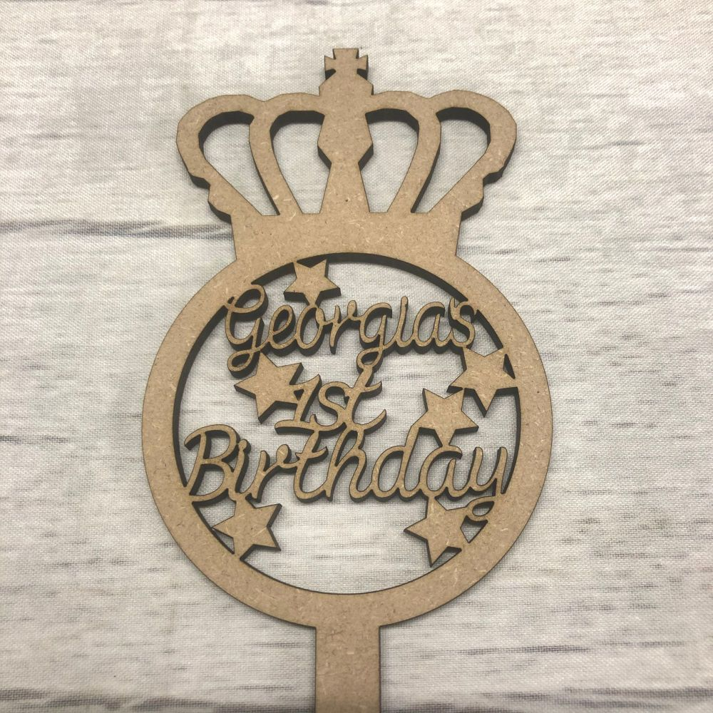 Princess Fairy birthday wand - customised