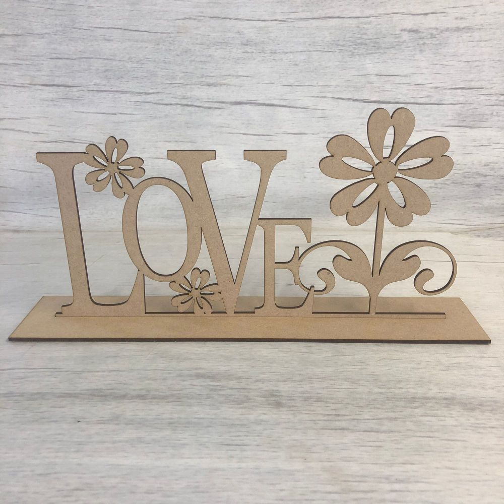 Free standing plaque - 'Love'