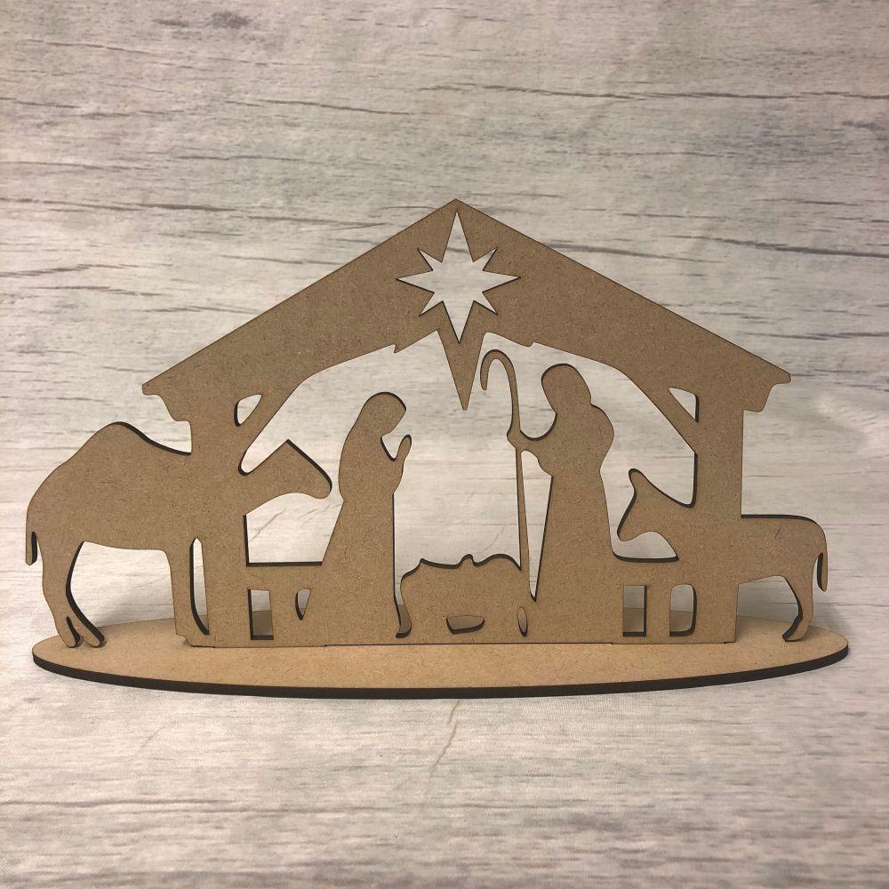 Christmas Nativity scene - freestanding scene 3