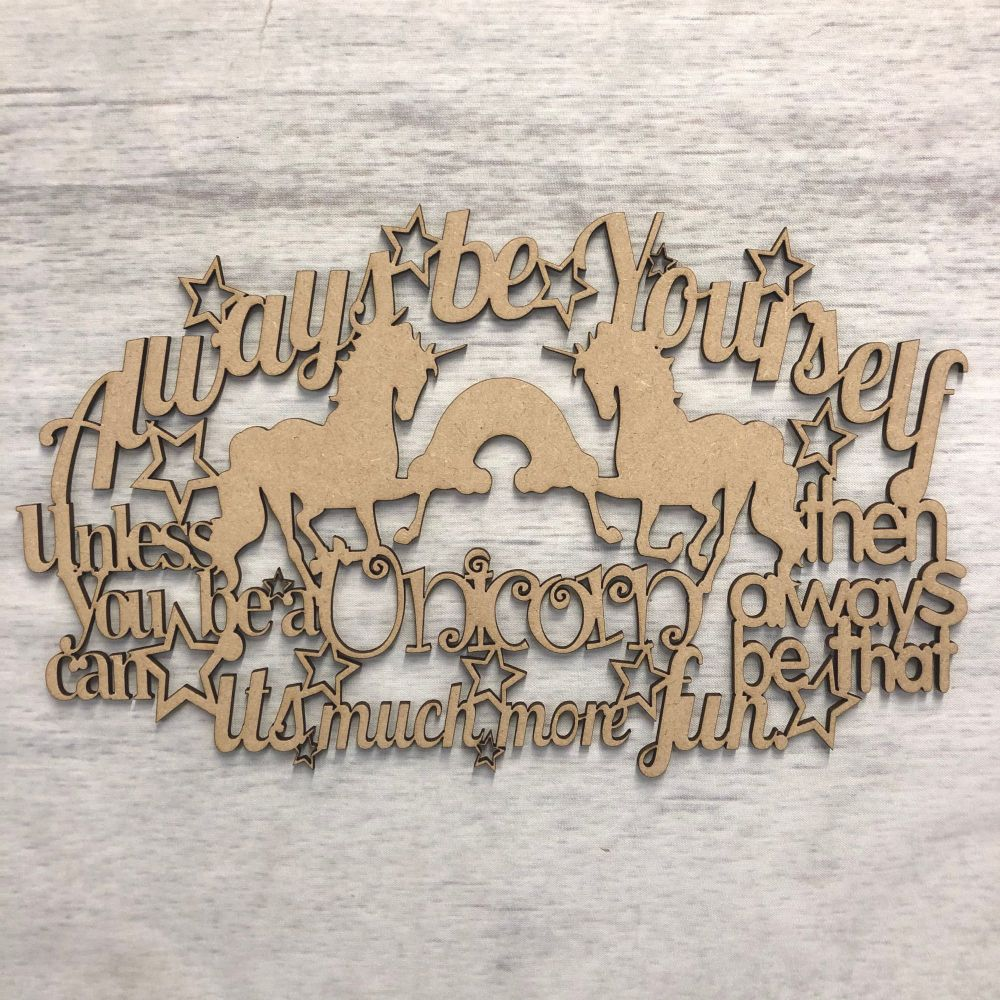 Wall plaque - 'Always be yourself..'
