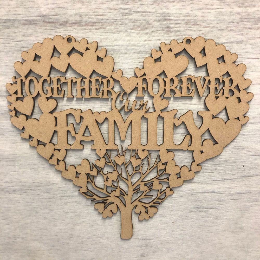 Our family hanging heart