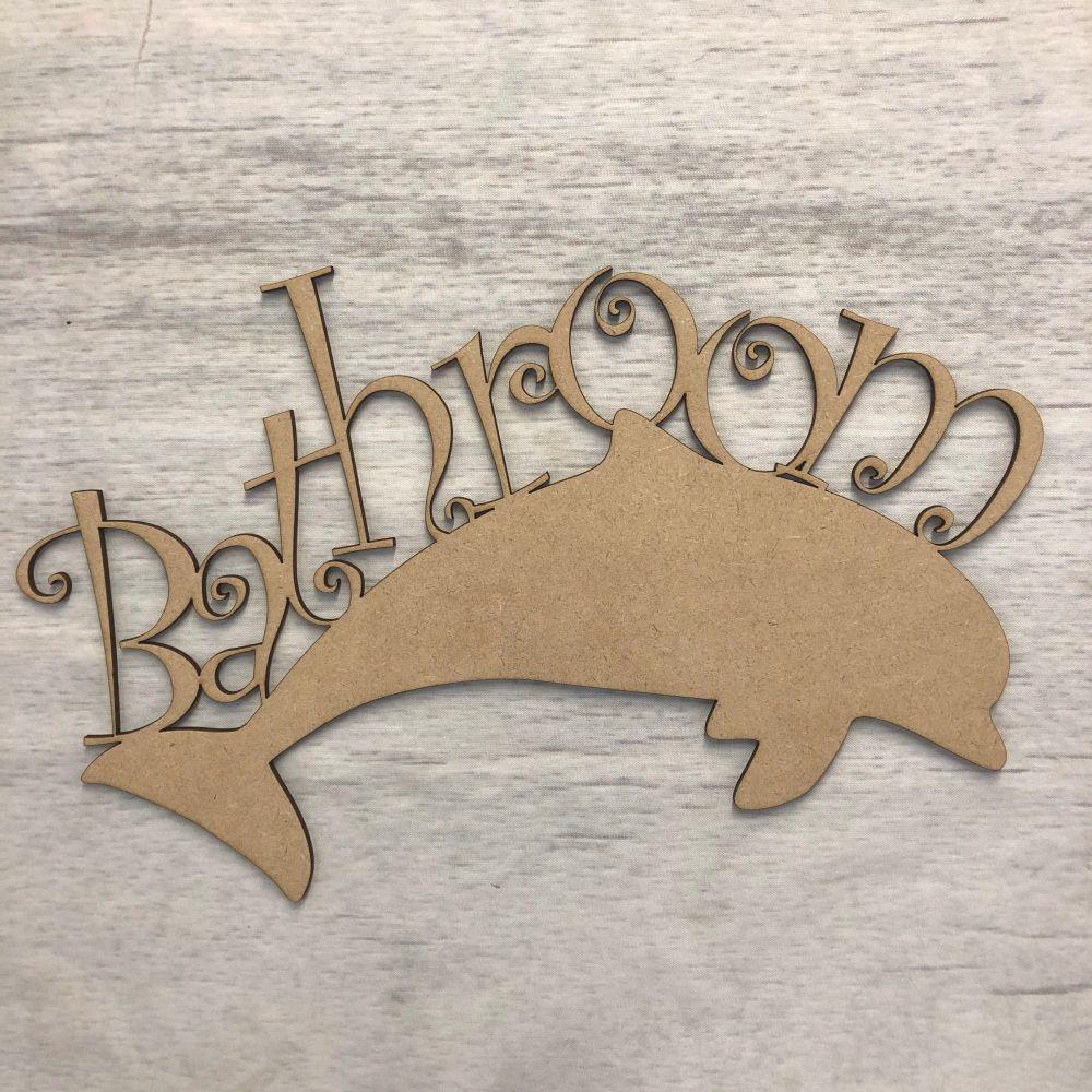 Dolphin bathroom door Plaque