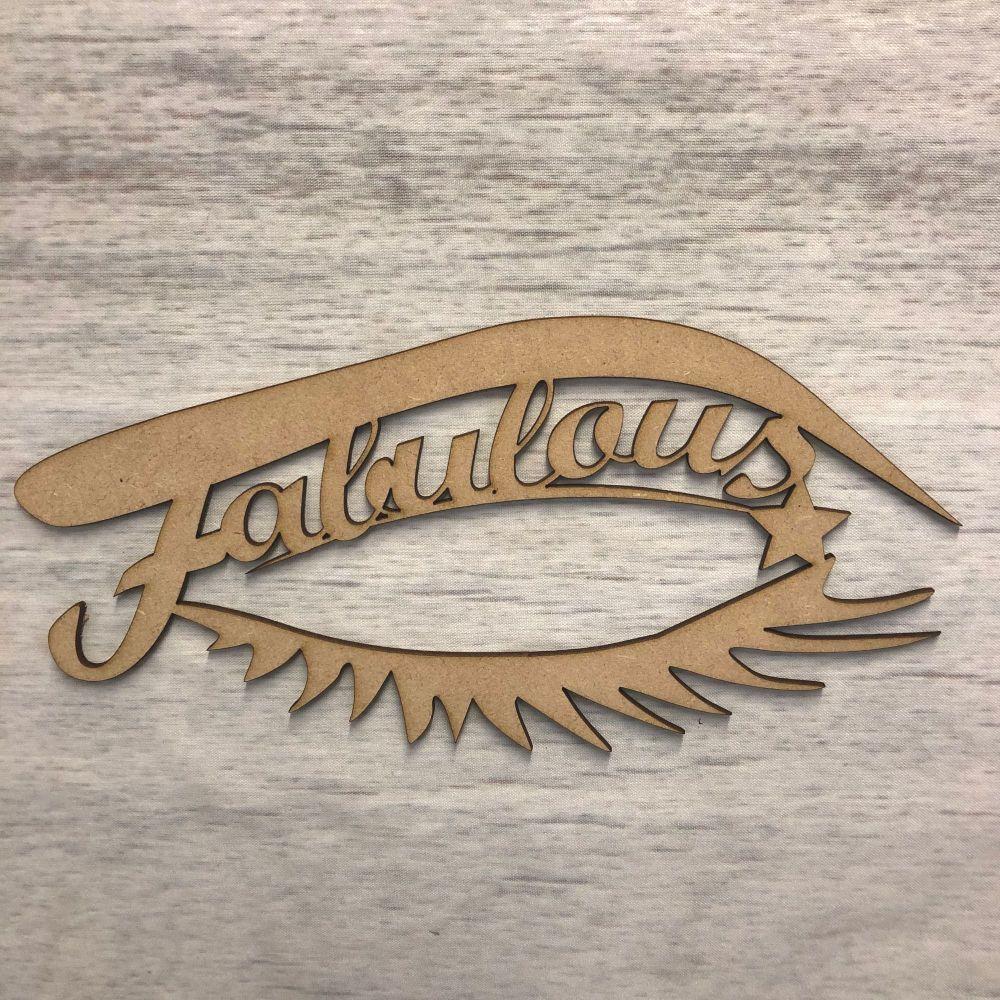 'Fabulous' Wall Plaque