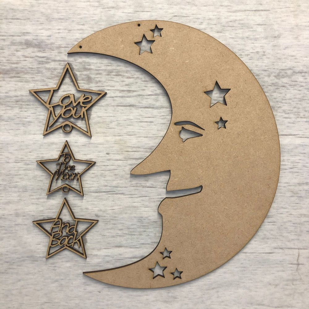 'love you to the moon and back'  hanging plaque - Plaque 2