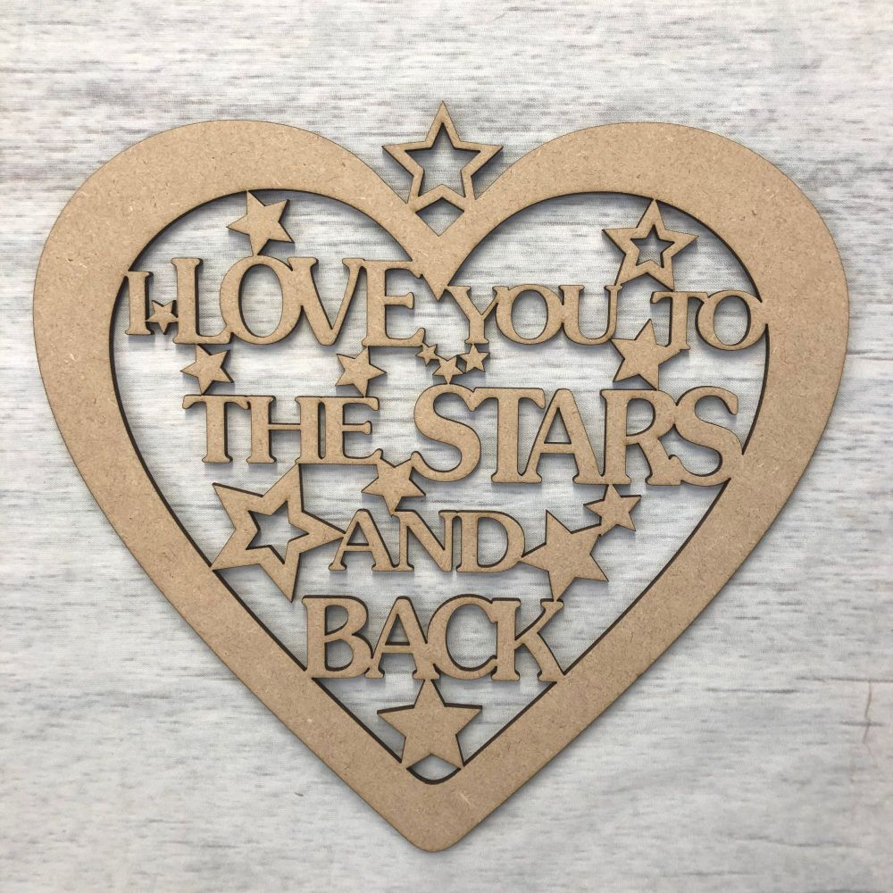Hanging heart - 'Love you to the stars.. '