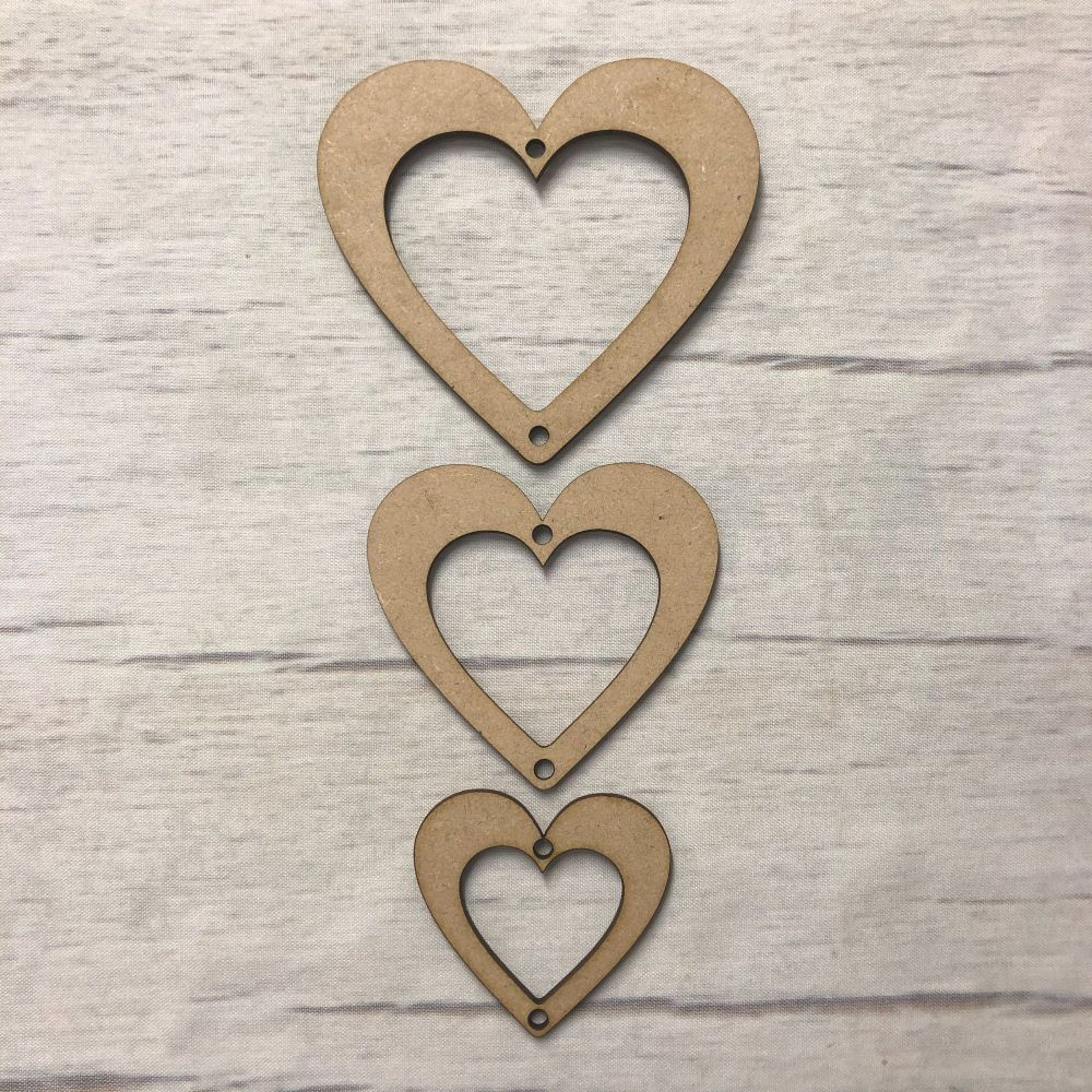 Hanging Hearts - set of 3