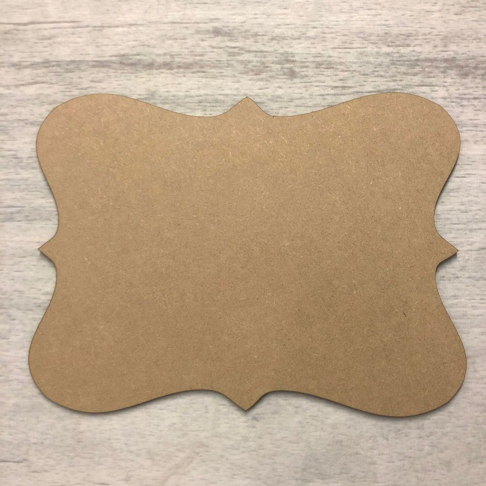 Blank name plaque - Scalloped