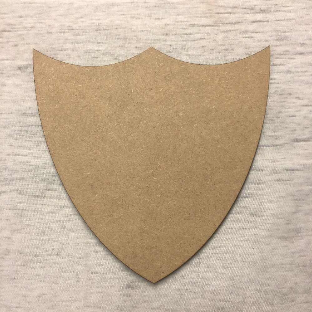 Blank name plaque - shield 1