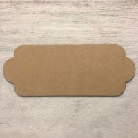 Blank name plaque - Station shaped