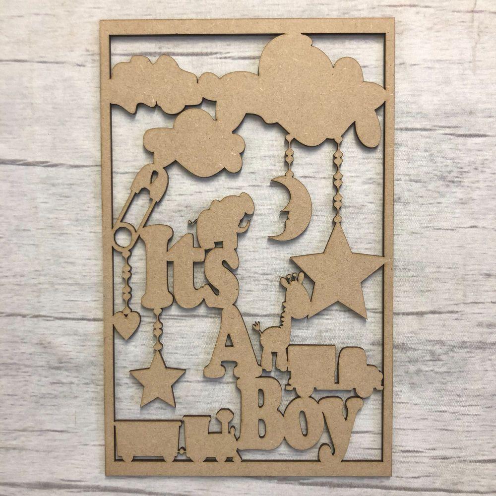 Box topper - Keepsake memory box - baby boy