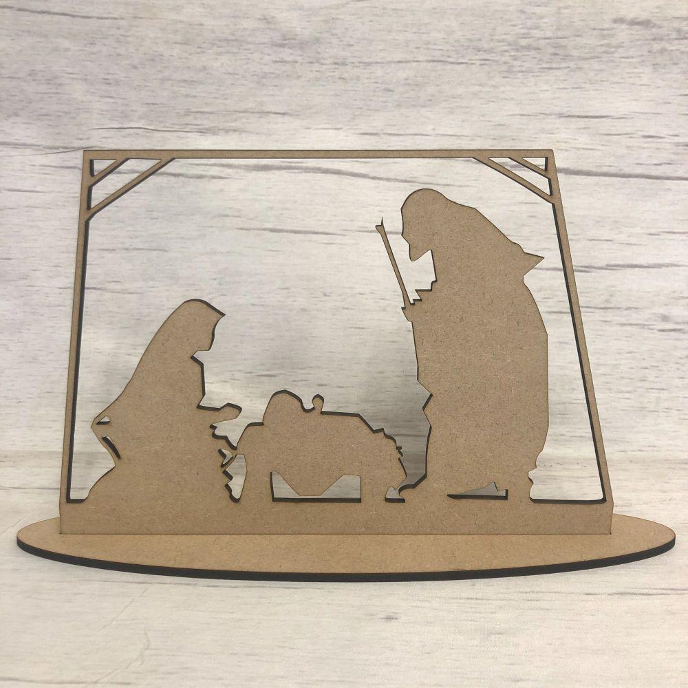 Christmas Nativity scene - freestanding scene 1