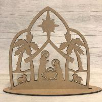 Christmas Nativity scene - freestanding scene 2