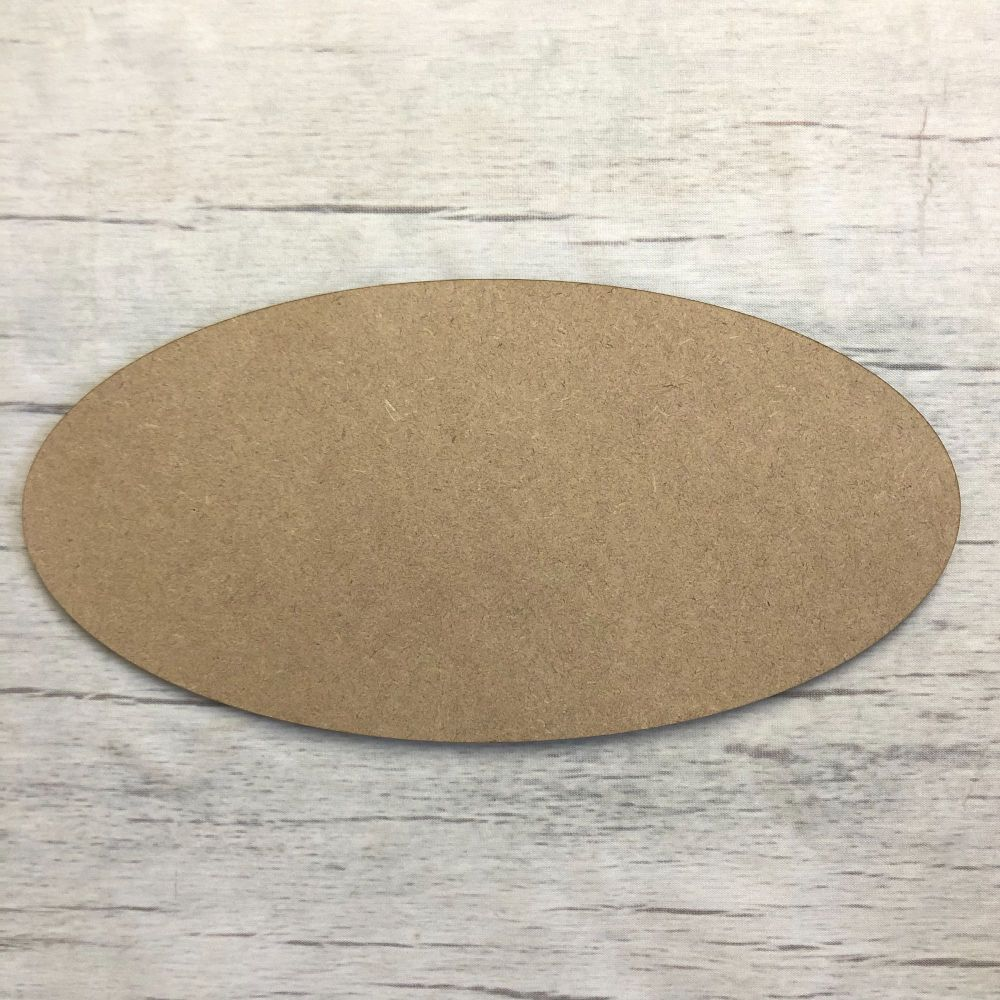 Blank name plaque - Oval