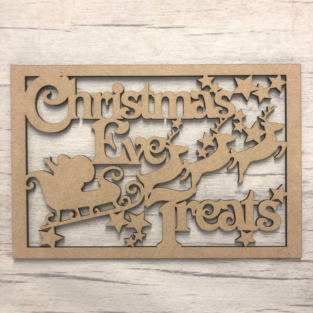 Christmas Eve Treats' hanging plaque