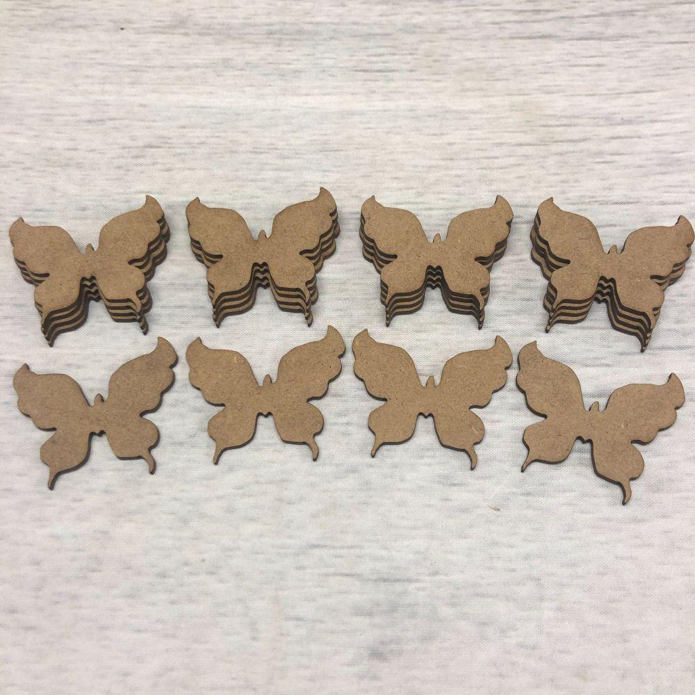 Embellishments set of 20 butterflies 3.5cm