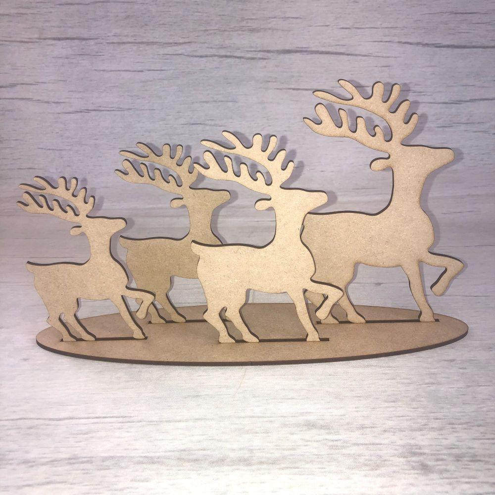 Christmas reindeer - freestanding set of four