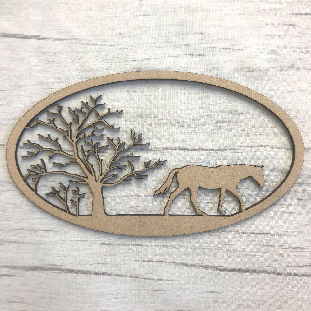 Box topper - keepsake memory box - Horse & Tree 2